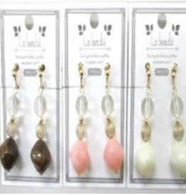 Pika Pika Japan Clear Mix color beads earrings