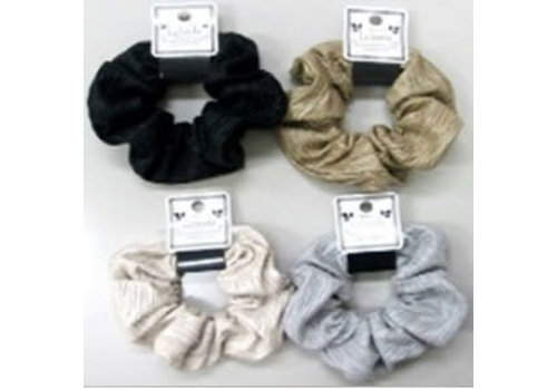 Glossy scrunchie with line
