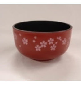 Pika Pika Japan A middle bowl ?Washing-up washing machine OK? sakura red