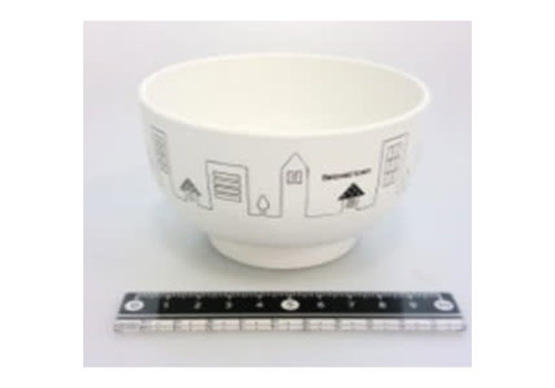 Town motif bowl WH