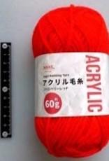 Pika Pika Japan Acrylic knitting wool 60g strawberry red