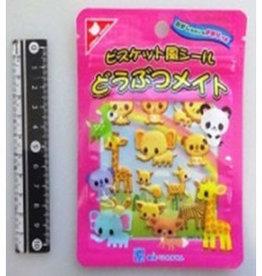 Pika Pika Japan Zip pack sticker animal biscuit flavor