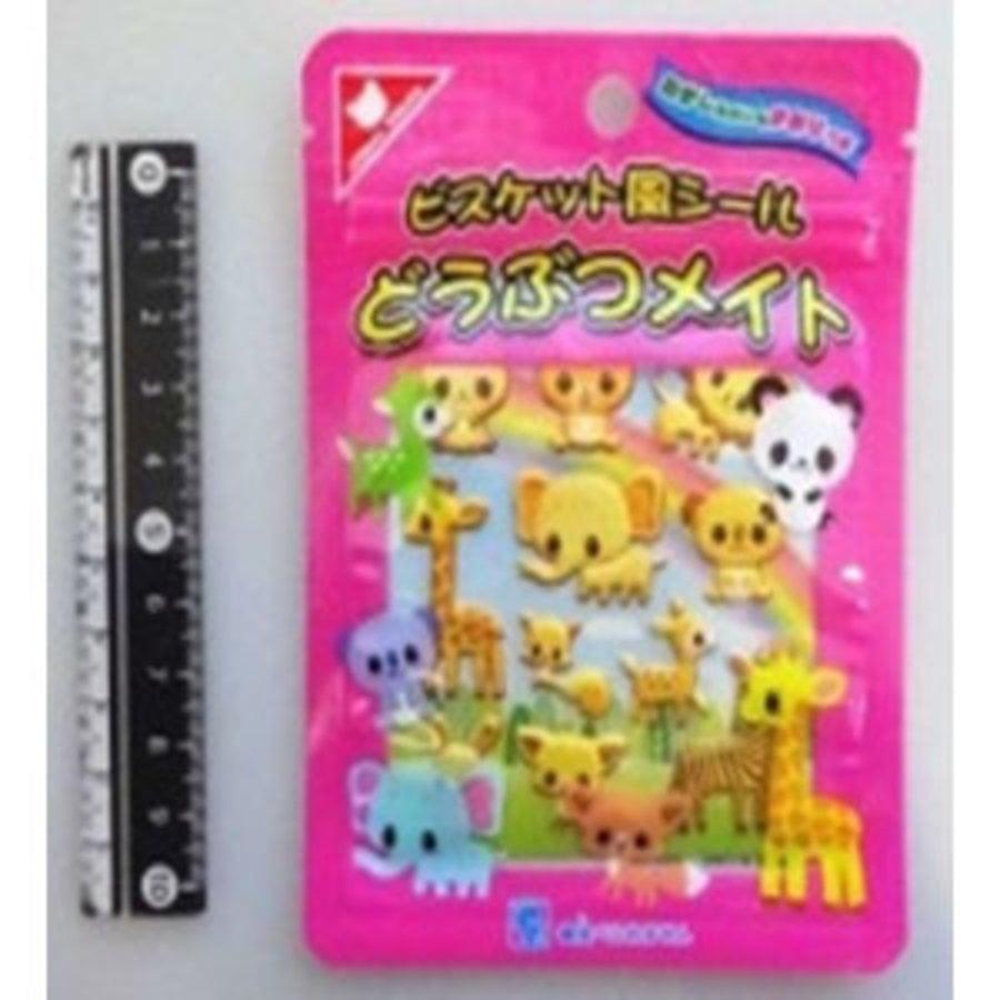 Zip pack sticker animal biscuit flavor-1