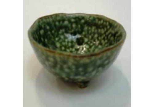 3 legs small bowl green