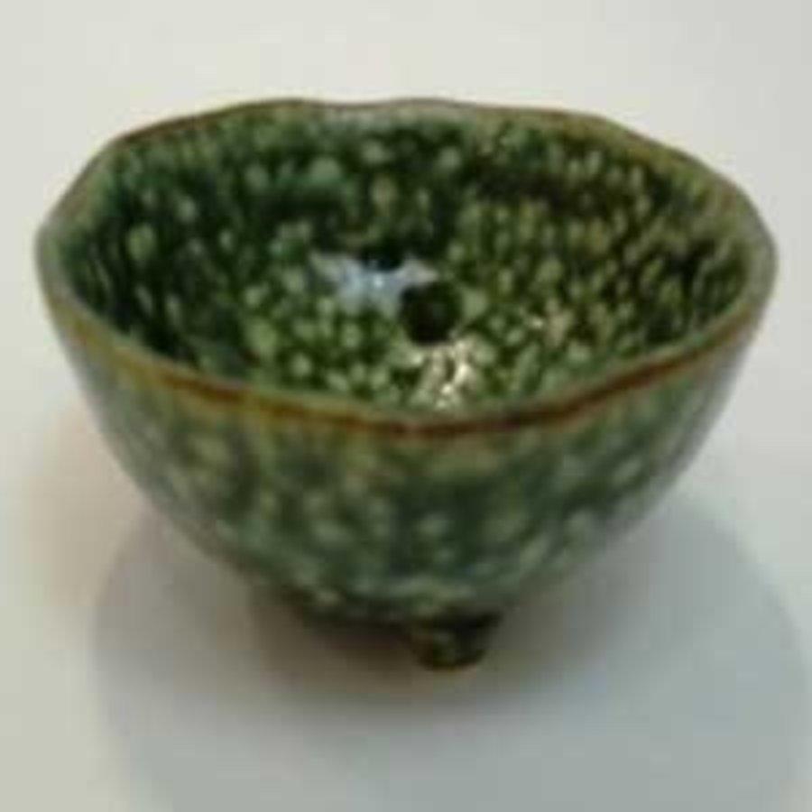 3 legs small bowl green-1