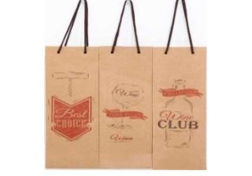 Paper bottle bag brown 3 assort