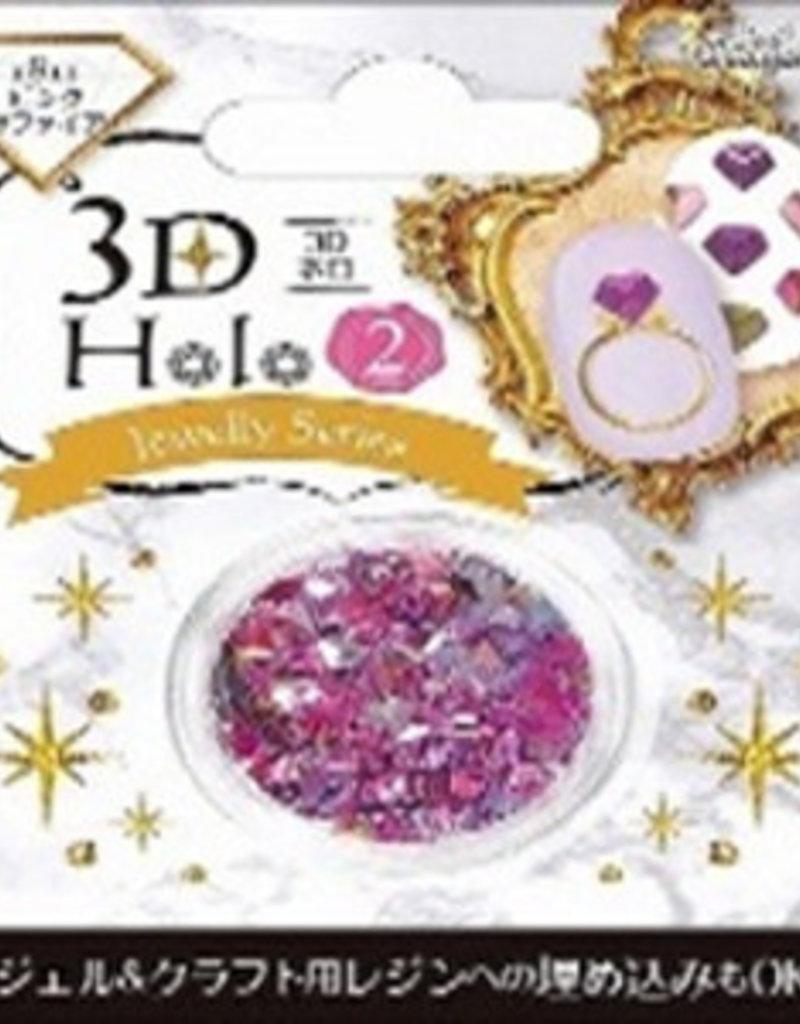 Pika Pika Japan 3D hologram 2 pink sapphire