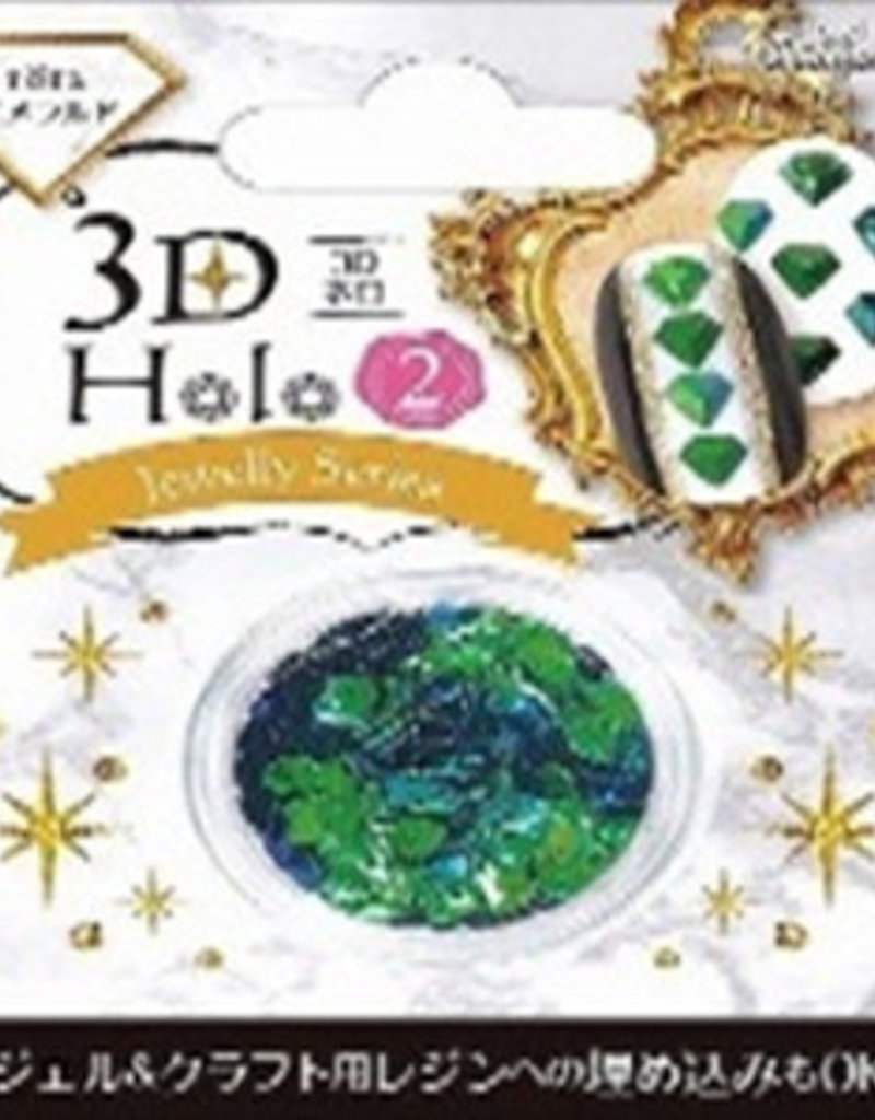 Pika Pika Japan 3D hologram 2 emerald