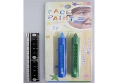 Face paint 2p blue/green
