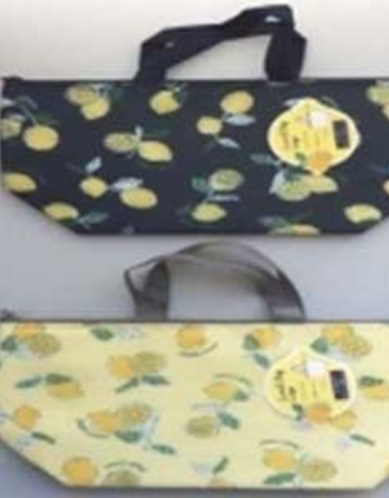 Pika Pika Japan Aluminum tote bag L lemon pattern