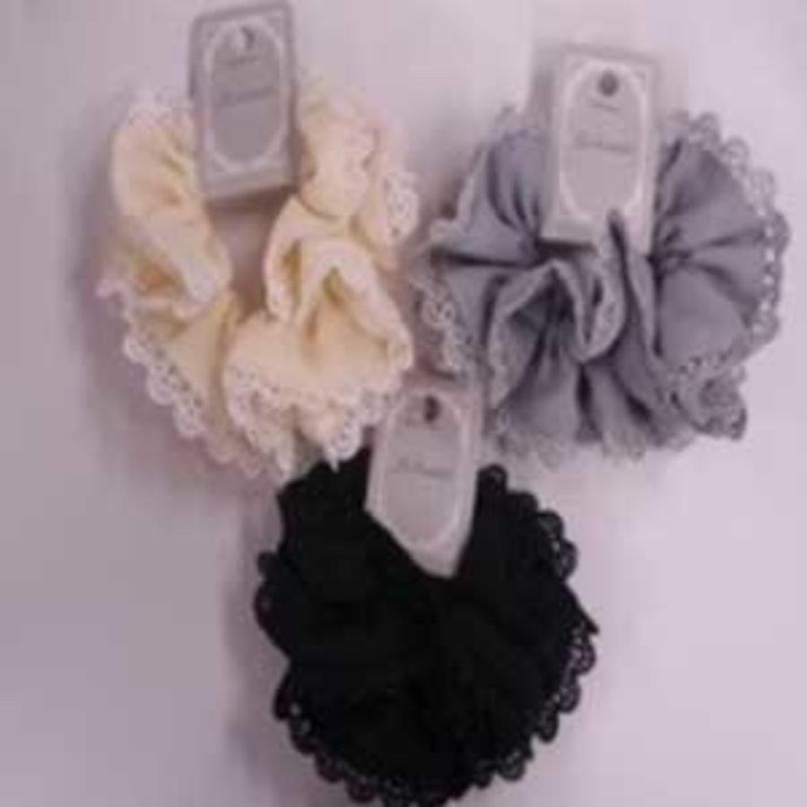 Chiffon design lace scrunchie : PB-1