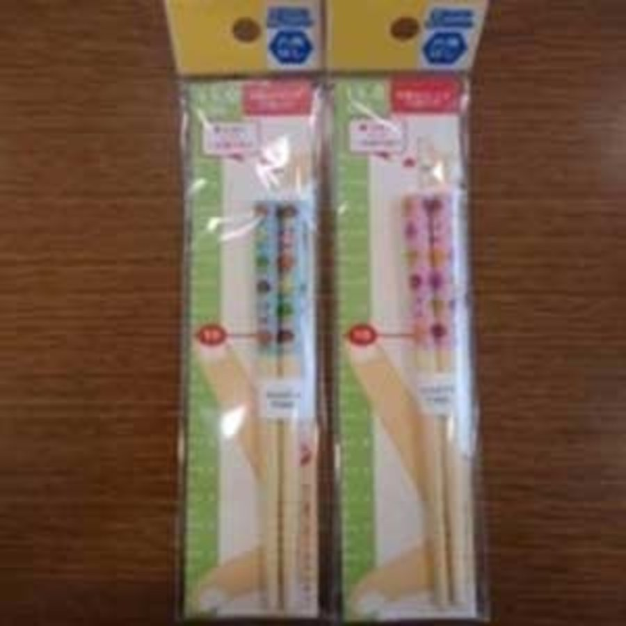 6 angle white bamboo safety 15cm chopsticks animal friends-1
