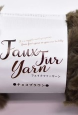 Pika Pika Japan Fake fur yarn chocolate brown