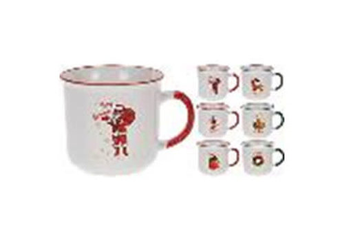 MUG 290ML PORCELAIN 6ASS