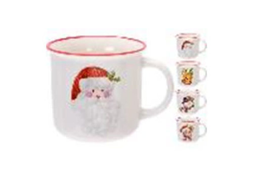 MUG 380CC PORCELAIN 4ASS