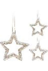 Koopman HANG DECO STAR 15CM 2ASS