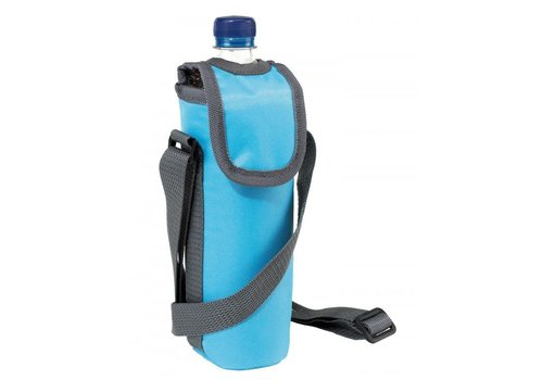 Schoudertasje voor drinkflesje, blauw