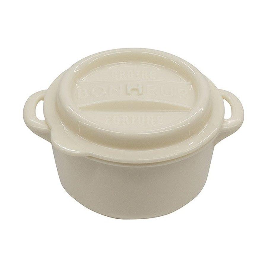 Bonheur new lunch pot M white-1