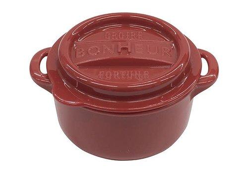 Bonheur new lunch pot M red