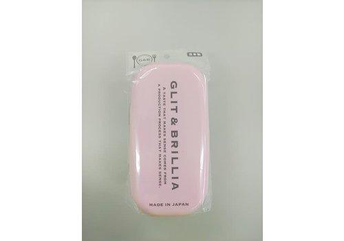 G & B 2 layered lunch box pale pink