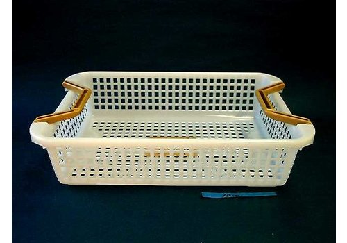 Plastic basket with handle, shallow