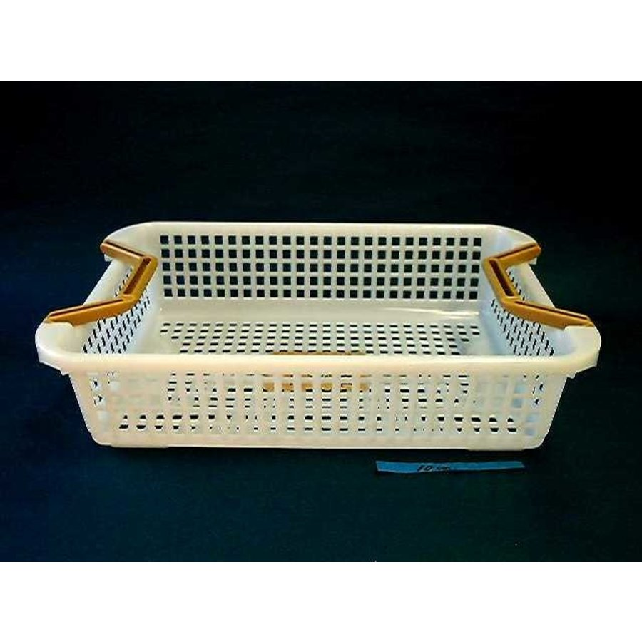 Plastic basket with handle, shallow-1