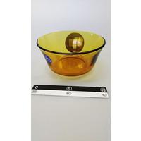 Oranje transparant glazen schaaltje