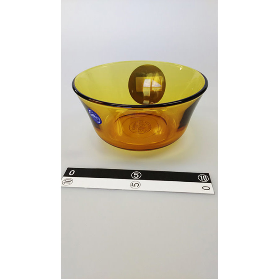 Oranje transparant glazen schaaltje-1