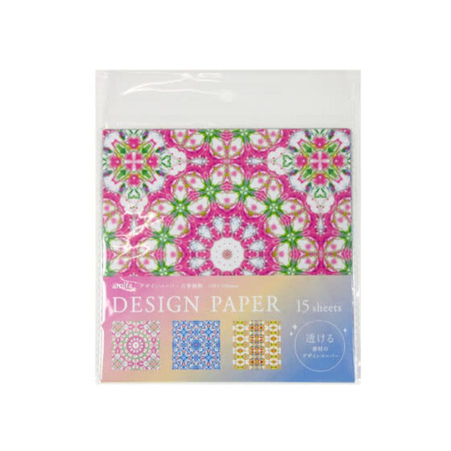 Design paper 15P kaleidoscope pattern-1
