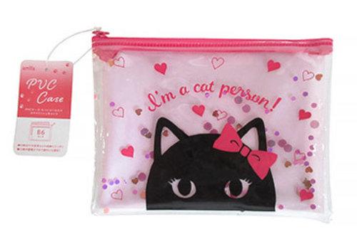 Zipper pouch, cat