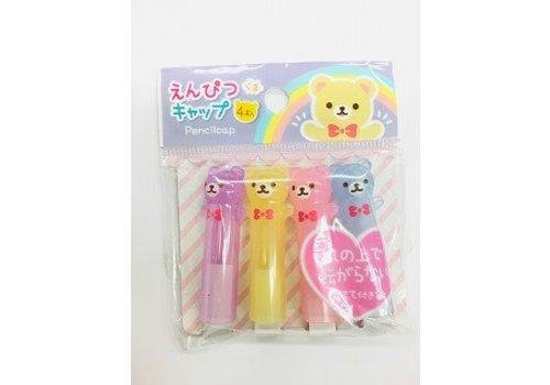 Pencil cap bear 4p