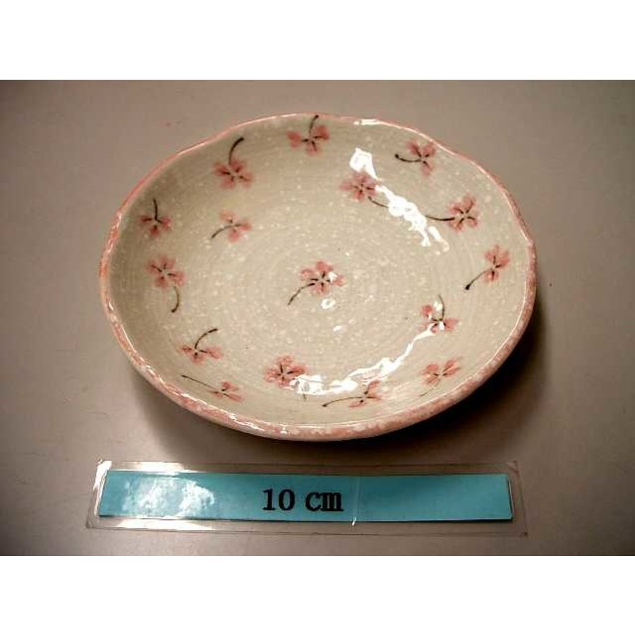 12cm plate Clover pink-1