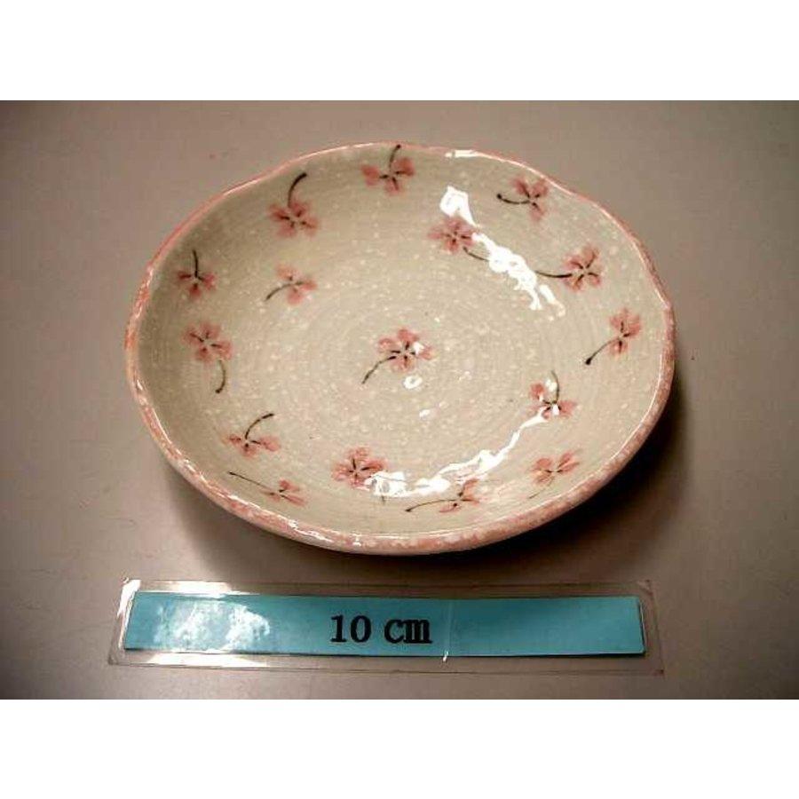 Schaaltje roze klaverpatroon, 12 cm-1