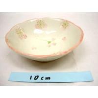 Schaaltje roze kersenbloesenpatroon, 11 cm