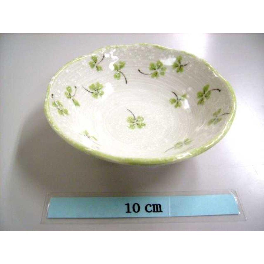 Schaaltje groen klaverpatroon, 11 cm-1