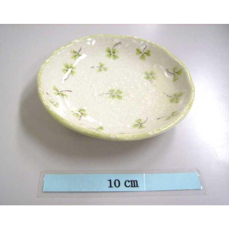 Schaaltje groen klaverpatroon, 12 cm-1