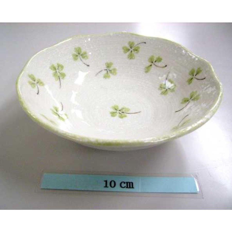 14.5cm plate Clover greenn-1