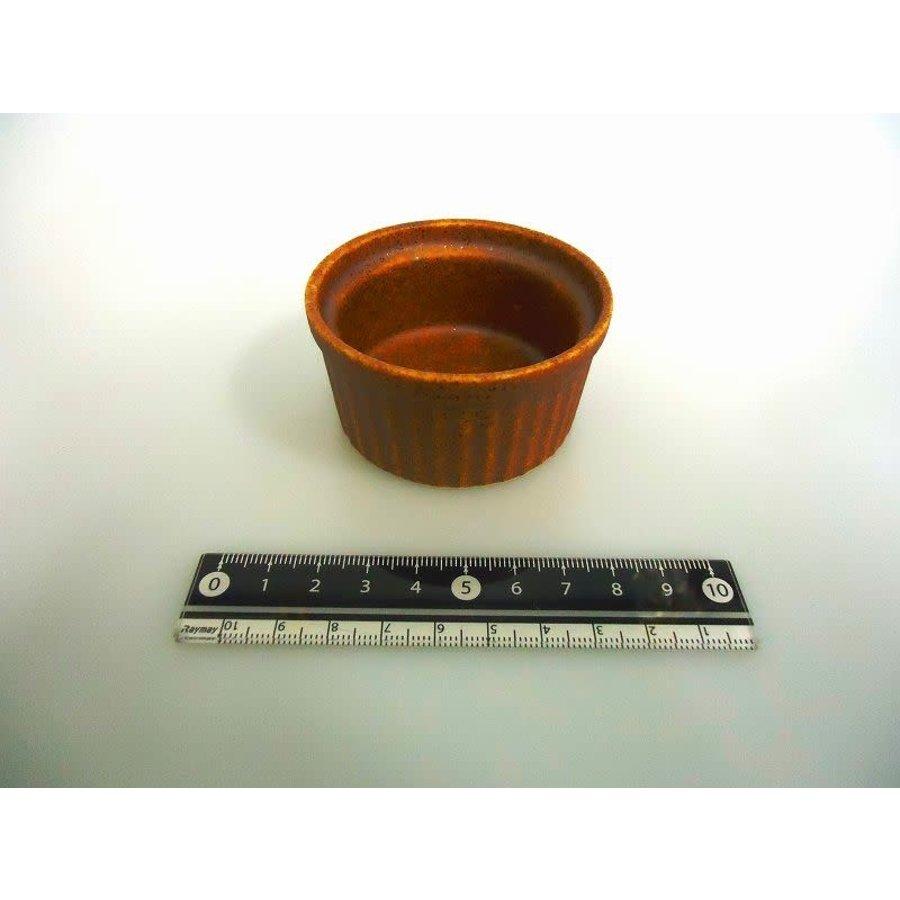 Mini soefflé schaaltje, bruin met spikkelpatroon-1