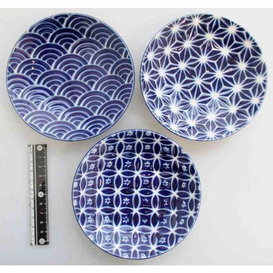 3.8 flat plate azure blue small pattern-1