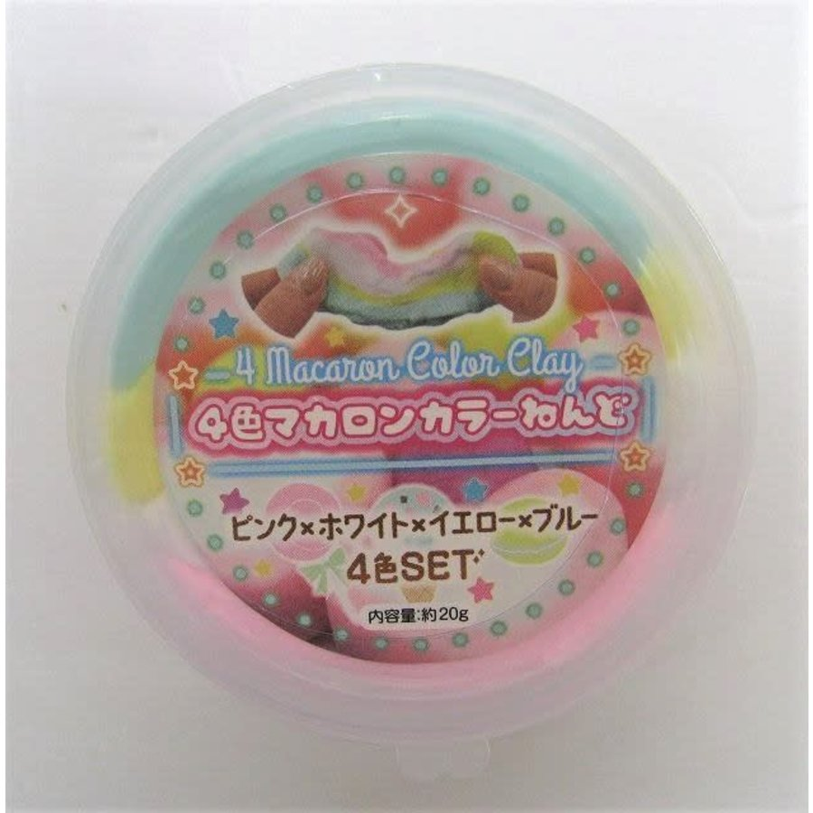 4 color macaroon color clay-1