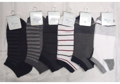Sneaker socks for men, stripe pattern