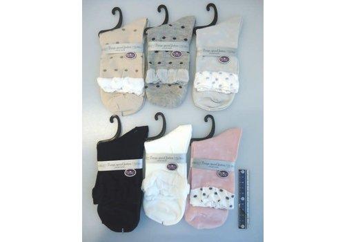 Lady's casual socks wide open type