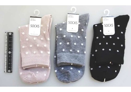 Casual socks dot pattern
