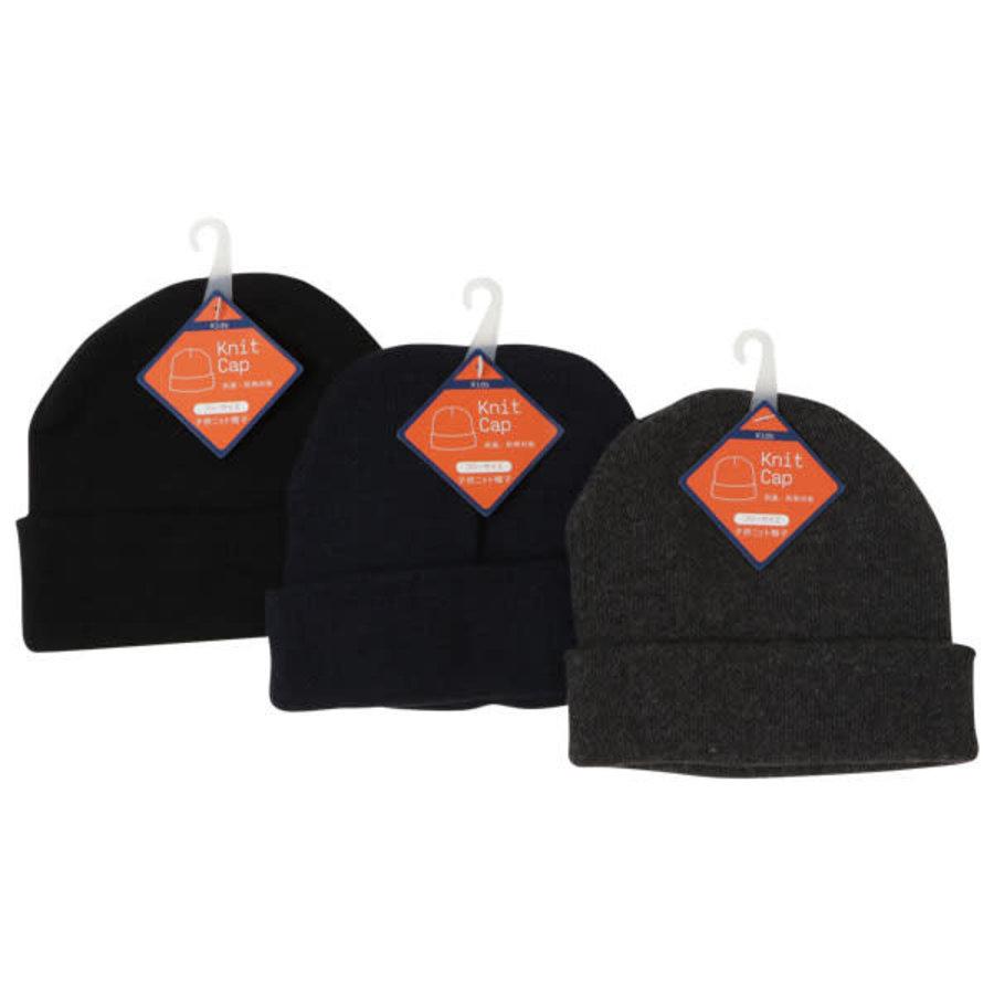 Kid's knit hat plain-1