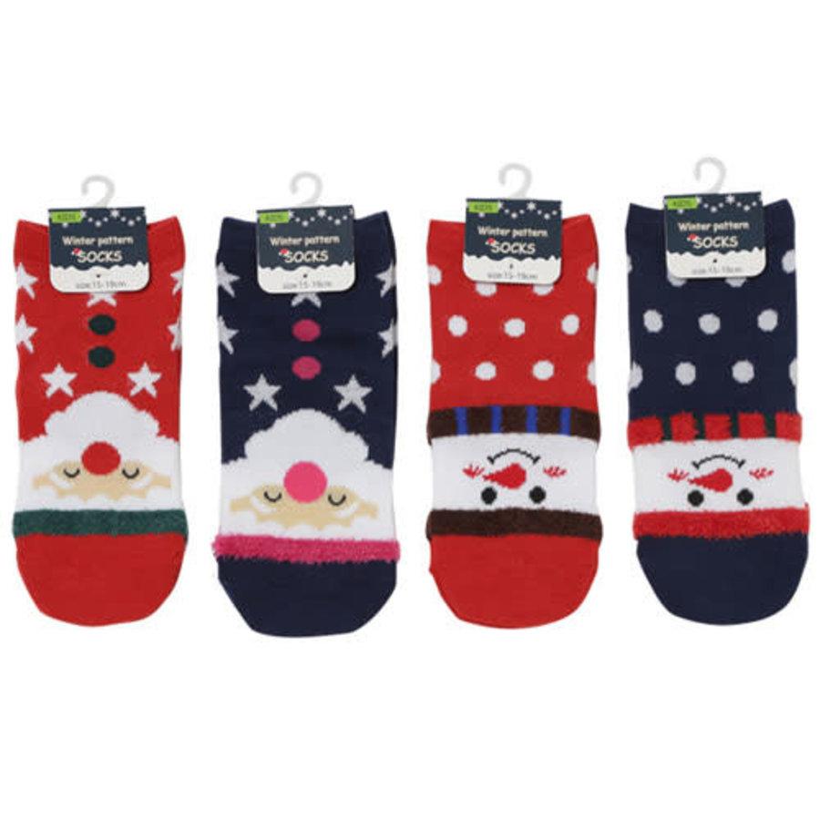 Kids short socks Christmas pattern 15-19-1