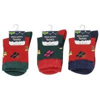 Kids crew socks present pattern 15-19
