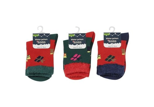 Kids crew socks present pattern 15-19