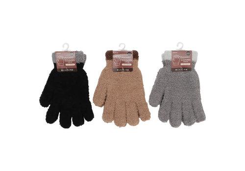 Women's fluffy gloves line switch