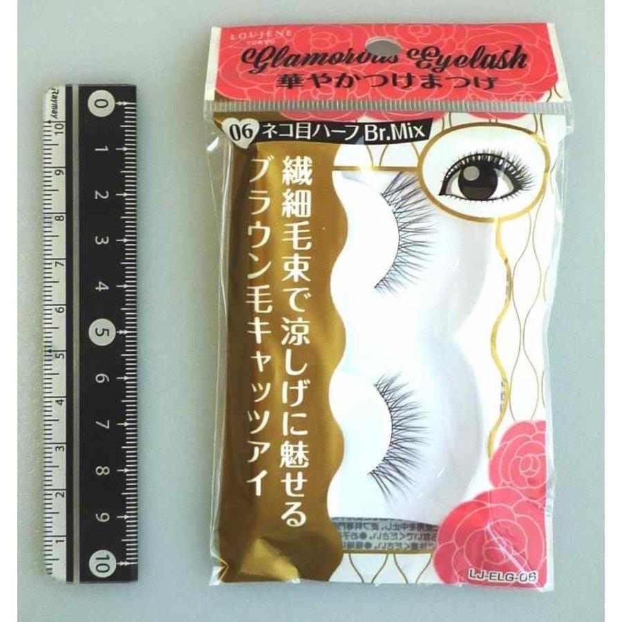 Glamorous fake eye lashes 06 cat's eye half BrM-1