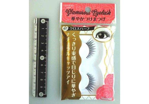 Glamorous fake eye lashes cross half